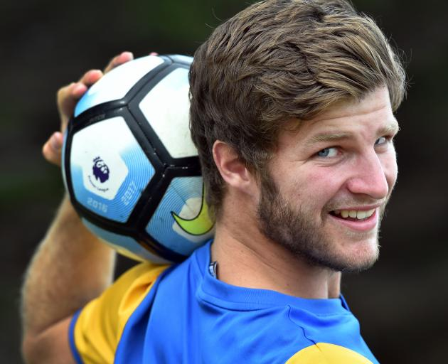 Southern United player Tim McLennan pictured at Tahuna Park yesterday. Photo: Peter McIntosh