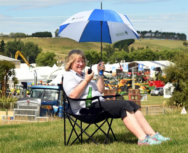 Secretary-event manager Sharon Paterson directs proceedings as stall holders prepare for the...