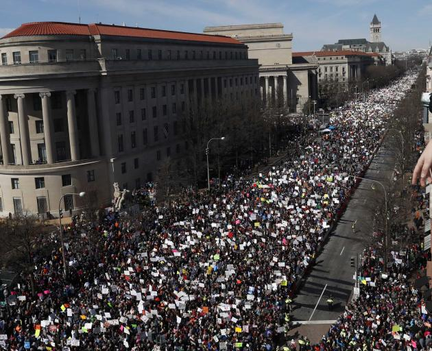 Student protesters say they're fed up, ready for gun reform