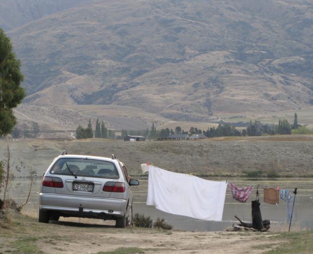 Camping area at Bendigo, April 8 . Photo: Pam Jones.