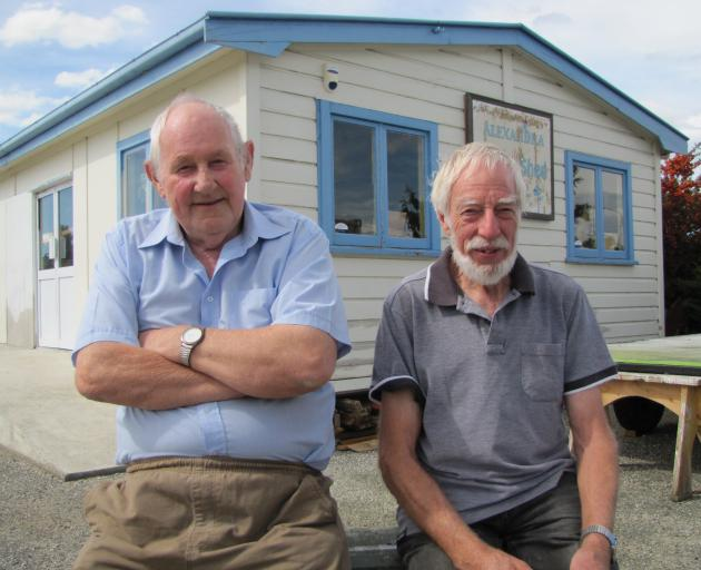 Alexandra Men's Shed trustees Neil McArthur (left) and Trevor Goudie celebrate a $200,000 grant from the Central Lakes Trust that will go towards construction of a new men's shed. Photo: Pam Jones
