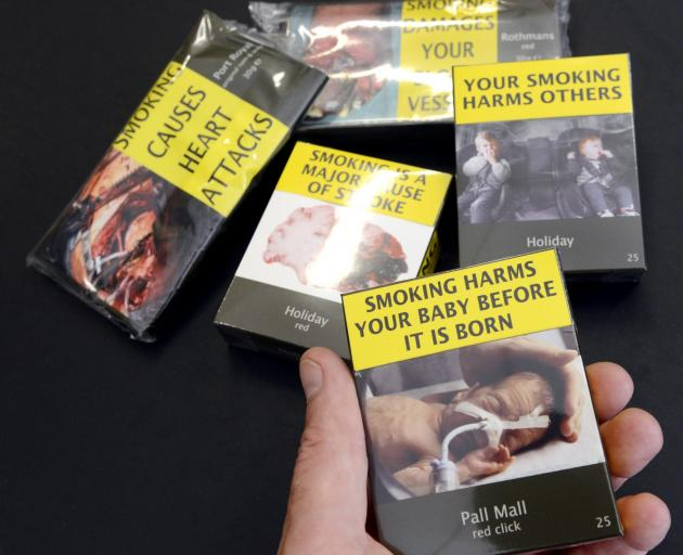 The new look for tobacco products. Photo: Gerard O'Brien