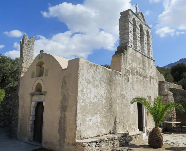 The Byzantine church of Drosiani Mary, originally built in the 4th century as a monastery.