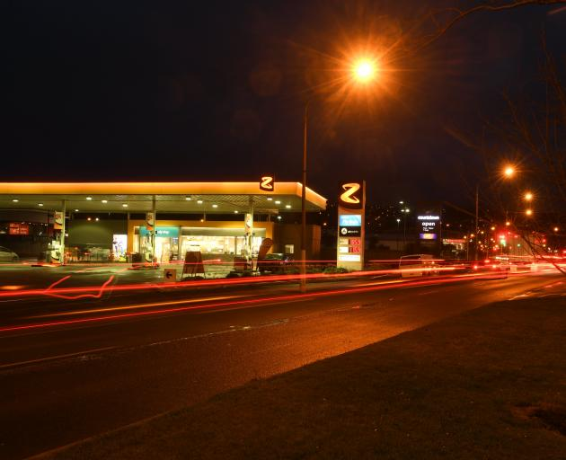 Z Energy's petrol station in  Andersons Bay Rd, Dunedin. Photo: Stephen Jaquiery