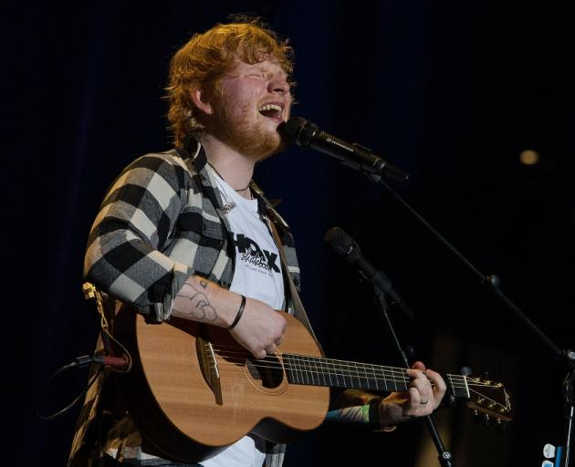 Ed Sheeran performs in concert on the opening night of his Australian tour at Optus Stadium on...