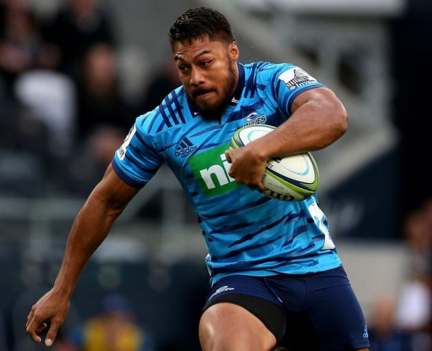 Blues centre George Moala carries the ball last week against the Highlanders. Photo: Getty Images
