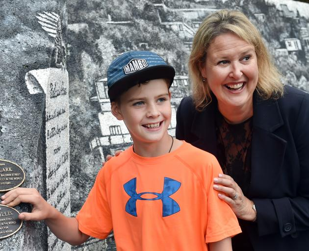 Harry Willis and Ronald McDonald House South Island chief executive officer Mandy Kennedy at a...