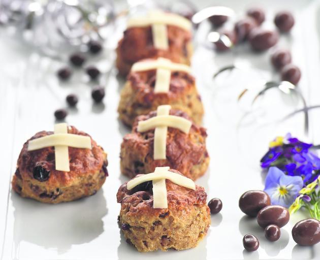 Hot cross scones. Photo: Peter McIntosh