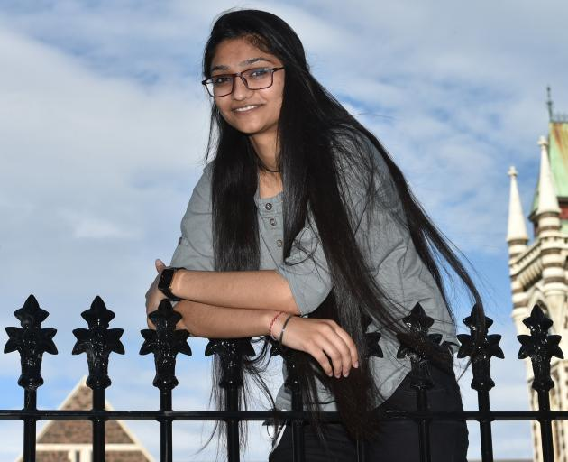 Khushboo Soni (19) won a New Zealand Excellence Award to study at the University of Otago. Photo: Gregor Richardson