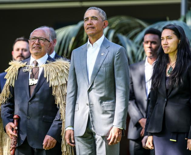 Image result for obama powhiri