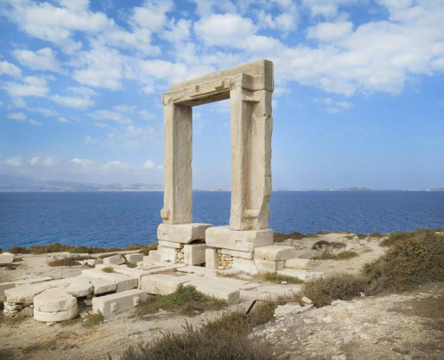 The doorway to the ancient Temple of Apollo. The temple was never finished.