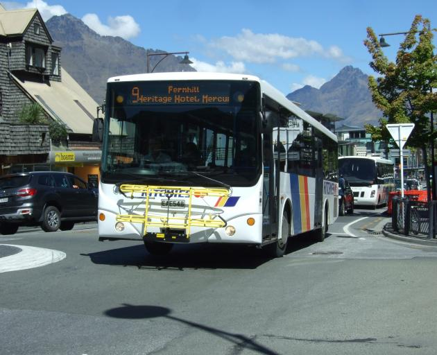 Queenstown's new bus service is doing very well. PHOTO: GUY WILLIAMS
