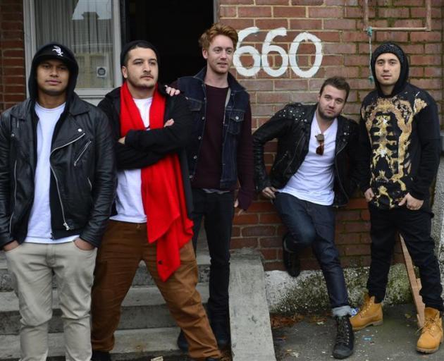 Six60 band members (from left) Eli Paewai, Matiu Walters, Ji Fraser, Chris Mac and Marlon Gerbes...