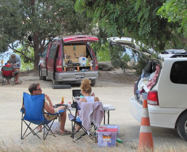 Freedom campers relax at the Bendigo campsite in January. PHOTO: PAM JONES
