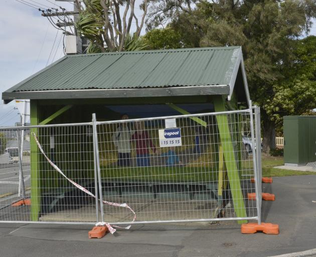 The bus shelter at the corner of Highgate and Drivers Rd in Maori Hill - one of those that...
