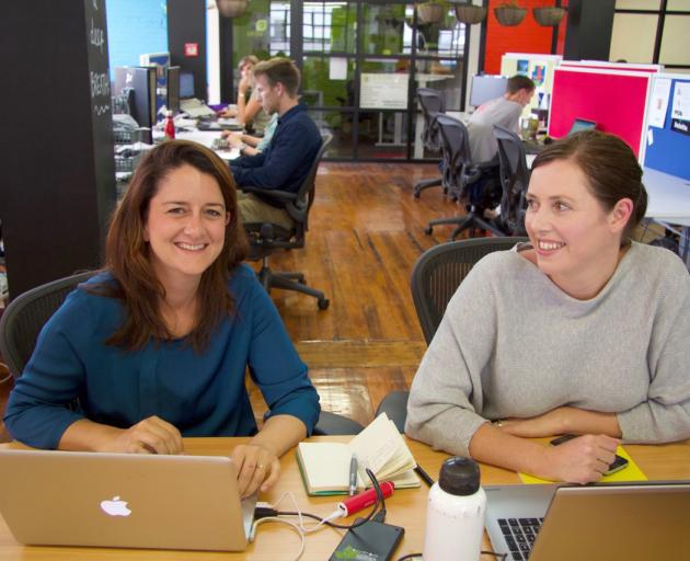 Burcu Cakmak (left) and Kate Gray are behind the launch of online skill-sharing site Pikaado....