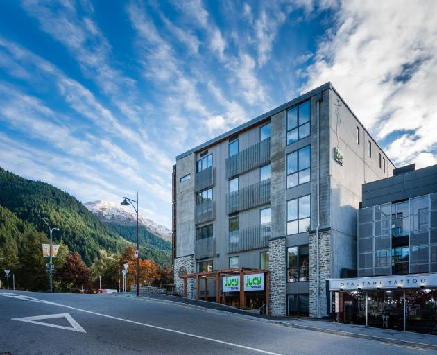 The Jucy Snooze backpackers hostel opened in Queenstown this month. PHOTO: SUPPLIED