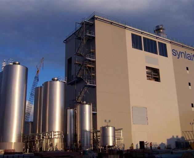 Synlait's dairy factory at Dunsandel. Synlait and A2 Corporation have signed an agreement. Photo...