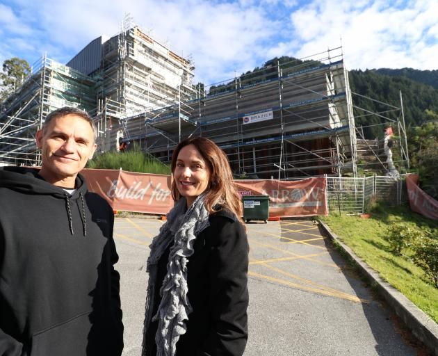 Gary and Emma Beyer were in Queenstown to check progress on their new iFLY business. Photo: Paul Taylor
