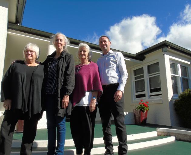 The children's village in Roxburgh is closing. Kaumatua Frances Diver (L-R), Chief Executive Dr Fiona Inkpen, board member Helen Eskett and Regional Operations Manager Dwight McDowell. Photo: Simon Henderson