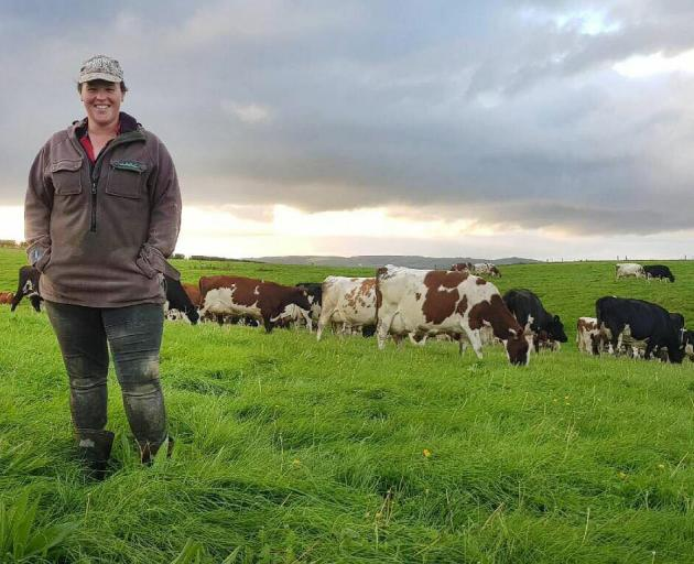 Amanda Brown has a passion for the dairy industry, particularly Ayrshire cattle. Photo: Supplied