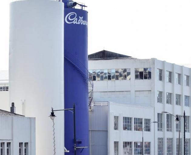 The Cadbury factory in Cumberland St. Photo: ODT files