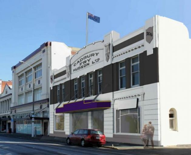 A photomontage of the planned restoration of the Cadbury dairy building in Castle St. Image:...
