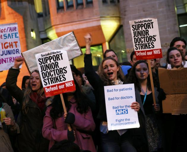Junior doctors have been calling for better working conditions in Britain recently. Photo: Getty...