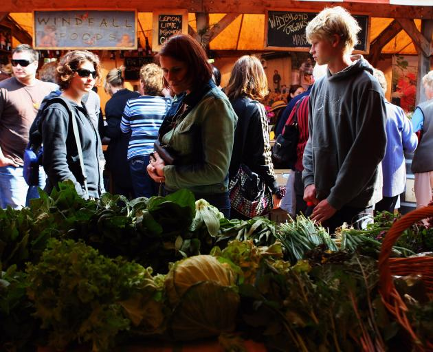 Eating locally produced food, organic food and less meat will help curb carbon emissions. Photo:...