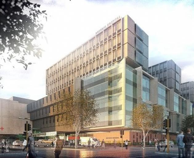 An artist's impression of what the new Dunedin Hospital could look like has been revealed. Image:...