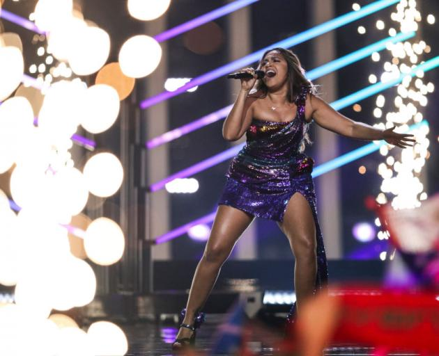 Singer Jessica Mauboy representing Australia during the second semi final of Eurovision Song Contest 2018 in Altice Arena, on May 10, 2018 in Lisbon, Portugal. Photo: Getty Images