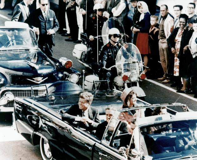 Just before the first shot, John and Jackie Kennedy and John and Nellie Connally. Photo: Dallas...