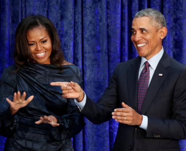 Former U.S. President Barack Obama and former first lady Michelle Obama sign multi-year deal with...