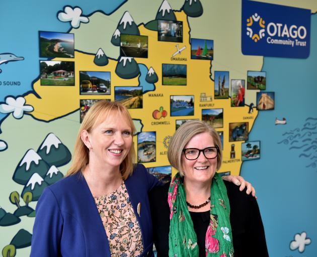 Otago Community Trust chief executive Barbara Bridger and Taieri Community Facilities Trust...
