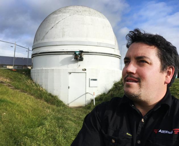 North Otago Astronomical Society president Damien McNamara outside the Oamaru observatory, which...