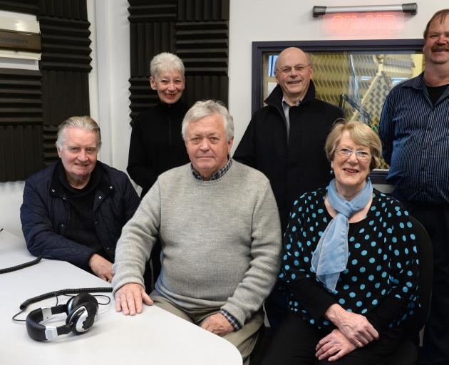 Otago Access Radio's Heritage Matters team (from left) producer Bill Southworth, presenters Judy...