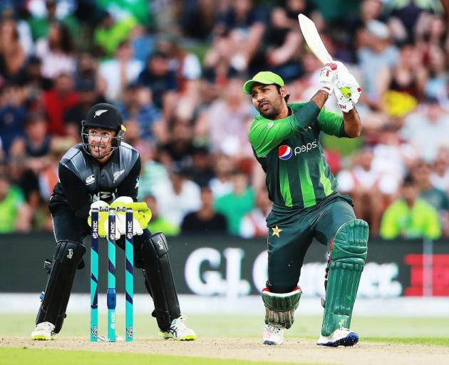 8b125ea9adb Safraz Ahmed hits a four for Pakistan against New Zealand last summer. He  could be