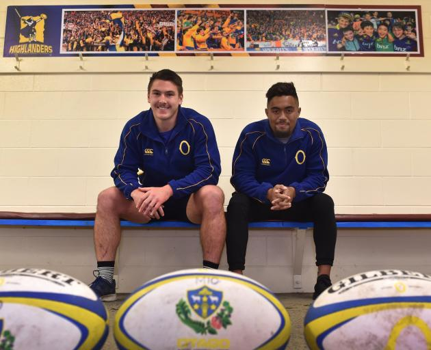 Otago players Ricky Jackson (left) and Vilimoni Koroi will join the New Zealand U-20 team in...