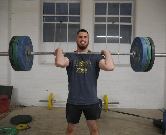 Weightlifter Josh Homersham has been named in the New Zealand team to compete at the 2018 Oceania Senior, Junior and Youth Cham­pionships in New Caledonia next month. PHOTO: JESSICA WILSON
