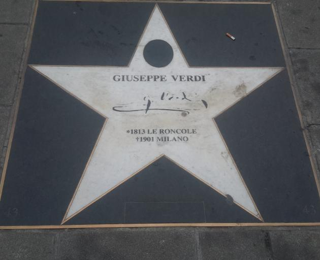 Vienna's walk of fame in front of the Vienna State Opera salutes the city's musical legends.
