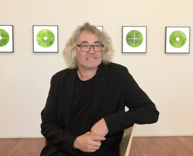 Chris Charteris sees his ponamu light boxes on show at Milford Galleries as focal points. Photo:...