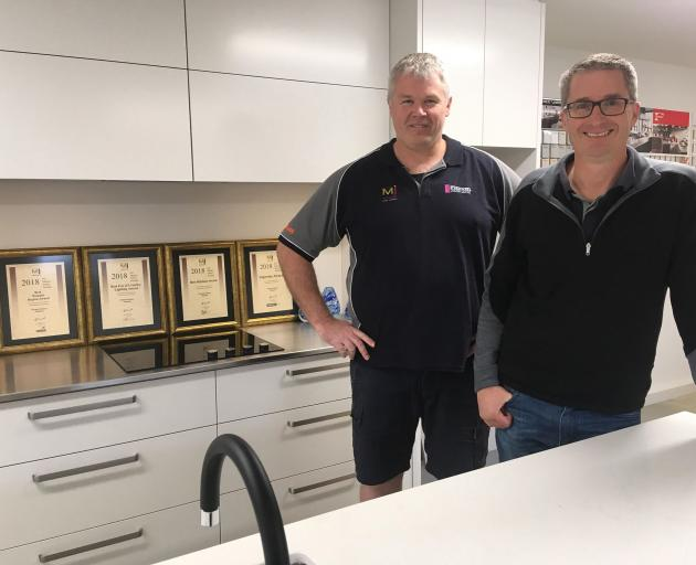Firman Joinery owners Hamish Kane (left) and Gary Firman are thrilled with the company's success...