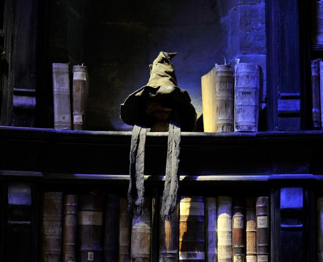 The Sorting Hat in Dumbledore's office on the set of Harry Potter. Are you really a Griffindor?...