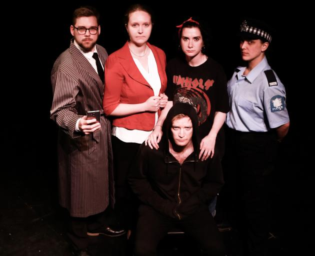 Hostage cast members (from left) Vinny Batt, Helen Fearnley, Emer Lyons, Sofie Welvaert and Alex...