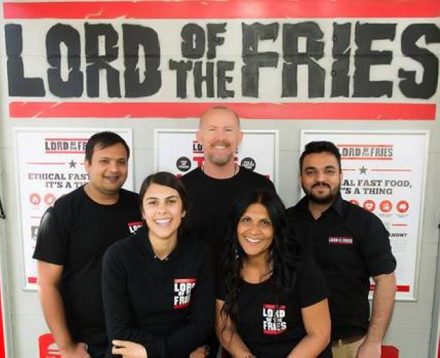 Co-owners Bruce and Baksho Craig, Philippa Young, Vishal and Dhruvin Joshi. Photo: Supplied via NZ Herald