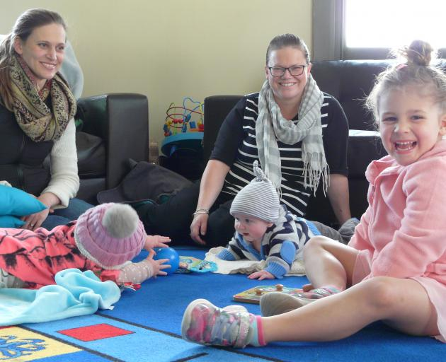 Preparing to celebrate Balclutha Parents Centre's 30th anniversary later this month are (from...