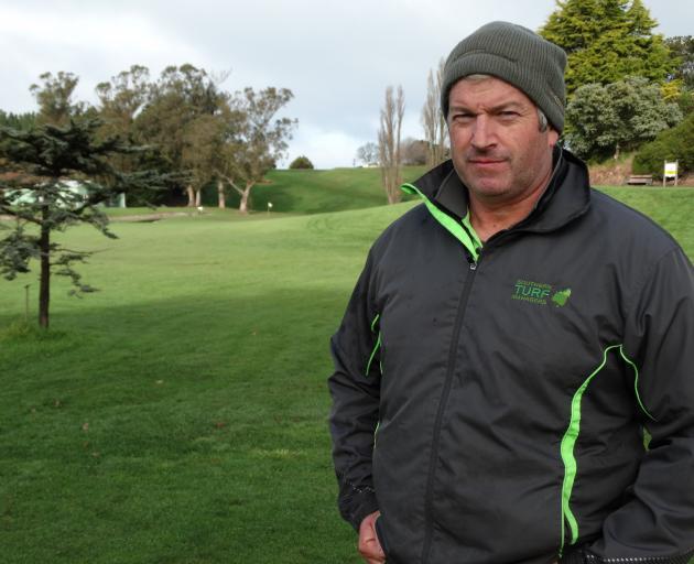 North Otago Golf Club greenkeeper Gary Creedy at the fifth tee of the North Otago Golf Club's new...