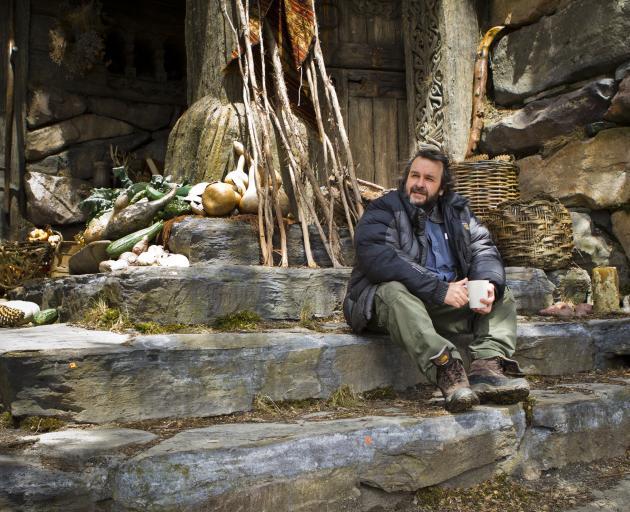 Peter Jackson on the set of The Hobbit. Photo: Mark Pokorny