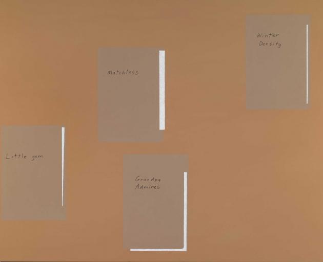 Nick Austin, Lettuce Poems, 2012, acrylic on canvas, 1000 x 1300mm, Hocken Collections, Uare Taoka o Hakena, University of Otago, 2012/11.