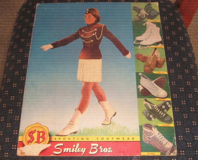 "Aaron Phillips found this advertising card for Smiley Brothers' ""sporting footwear"" after reading..."